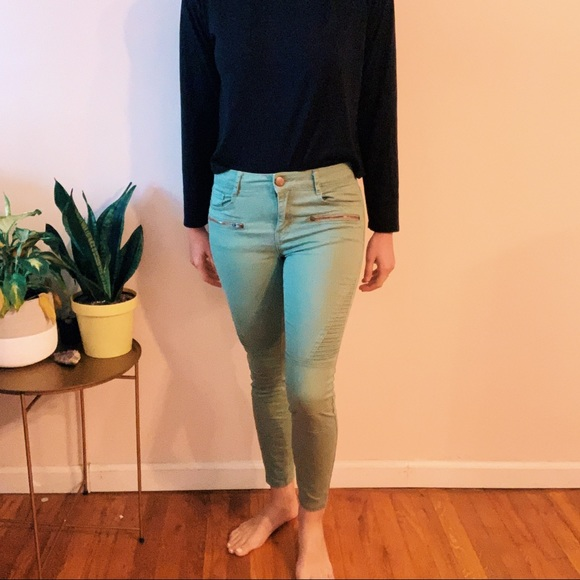 Cotton On Denim - Green Motto Jeans